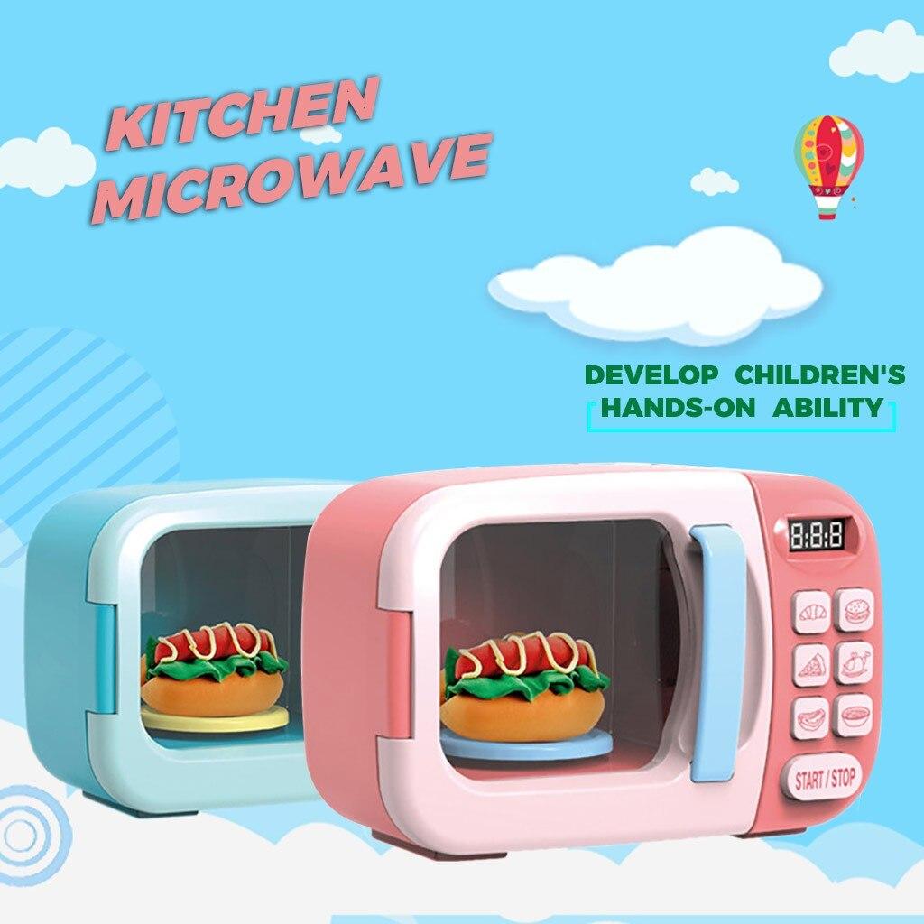 Juego de juguetes para bebés, aparatos eléctricos para el hogar, simulación analógica, educación de microondas, juego de juguetes para niños