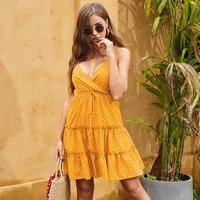 women summer dresses french fashion polka dot dress female 2021 sexy backless chiffon sleeveless beach mini casual sundress