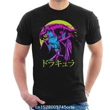 Camiseta estampada con texto japonés de Drácula Castlevania, camiseta 100% de algodón para hombre