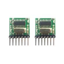 2 pieces 433 Mhz Superheterodyne RF wireless transmitter module 1527 Encoding EV1527 Code wide-voltage 3V-24V For Remote control