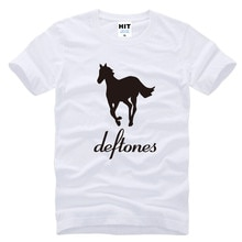 Deftones T Shirt Men New Printed Alternative Metal Rap T-Shirt Summer Short Sleeve Cotton Rock Pop Tops