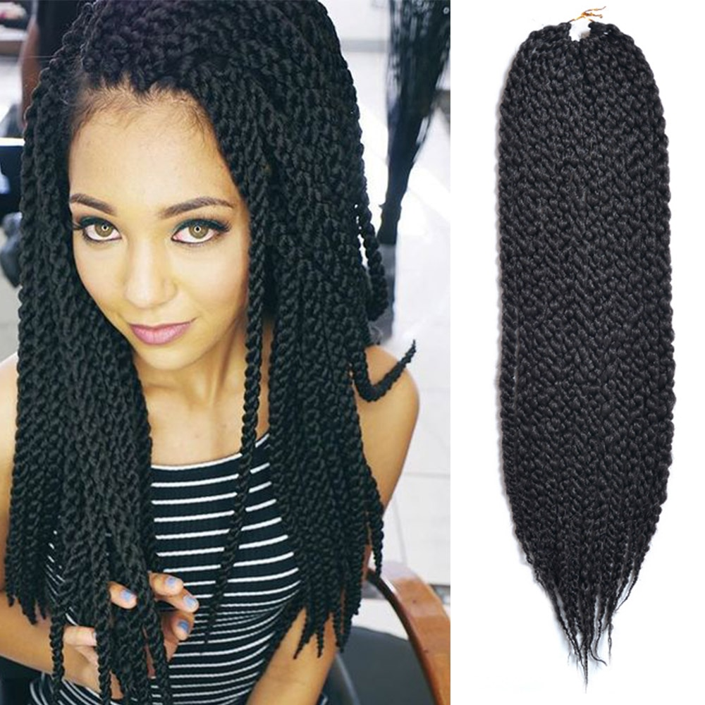 Saisity ombre crochet braids Havana mambo twist bulk synthetic hair 3D Cubic Twist crochet hair african braids 22 inch 12 roots