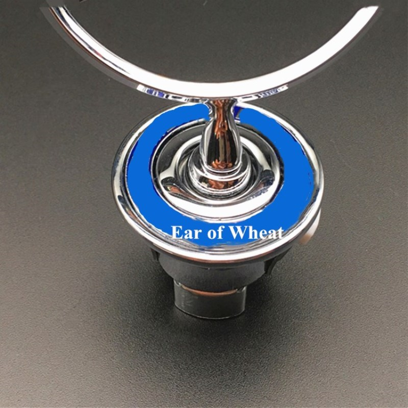 3d metal azul chrome estrela capô emblema emblema para w202 w203 w204 w208 w210 w220 w221 44mm