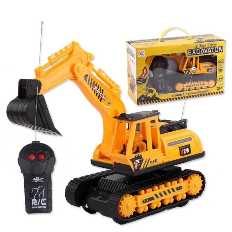Electric Remote Control Excavator Children Outdoor Indoor Fun Engineering Construction Vehicle Kids RC Car Toy Birthday Gift