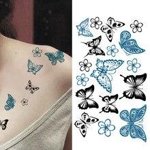 Health Beauty Body Art Temporary Tattoos Temporary Tattoo Stickers Body Art Waterproof Butterfly Wom