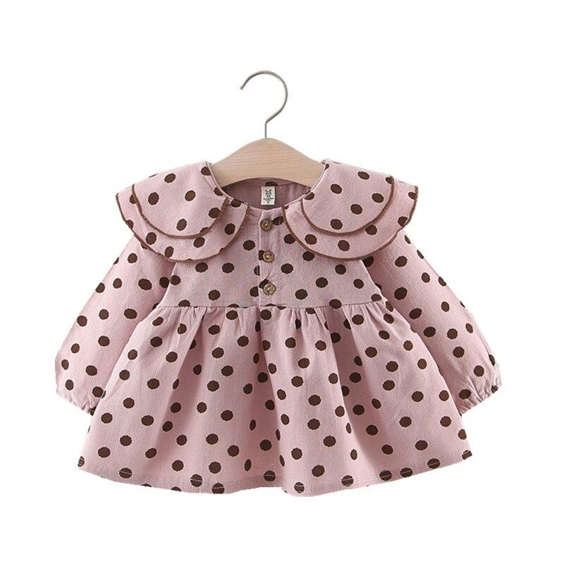 Infant Clothing For Baby Girl Dress Long Sleeve Dot Printed Vestido Infantil Fashion Toddler Kids Cotton Casual Princess Dress