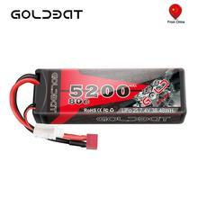 Goldbat Rc Lipo Batterij 7.4V 5200 Mah 2S Rc Batterij Lipo 7.4V Lipo 2S 80C Met deans Plug Voor Auto Rc Vrachtwagen Rc Truggy Fpv Vliegtuig