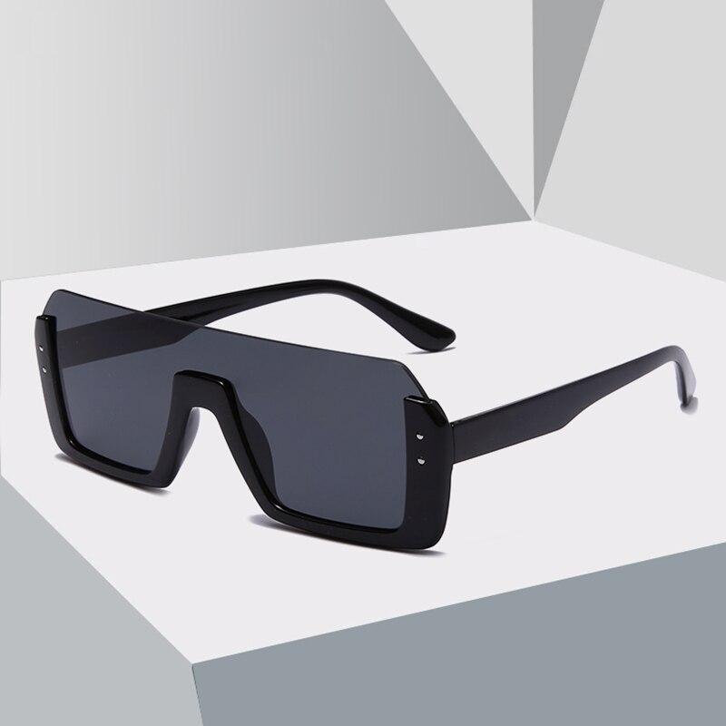 2020 New Fashion One-piece Half-frame Sunglasses Women Men Brand Design Oversize Square Gradient Sun