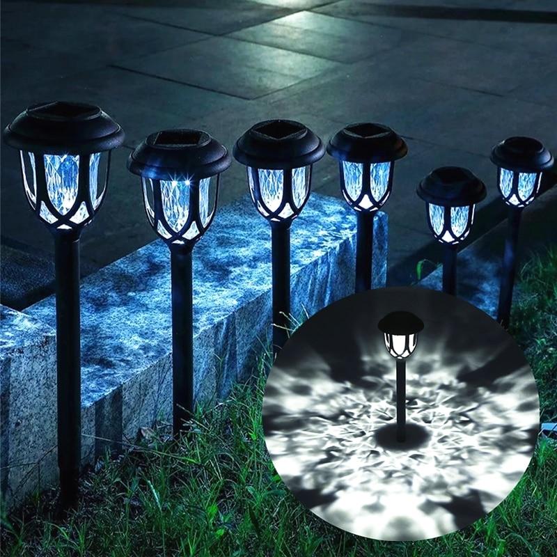 Светодиодные уличные лампы на солнечной батарее, водонепроницаемые садовые светильники для виллы, двора, дорожек, беседки, декоративные са...