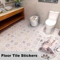 boho style non slip floor stickers diy waterproof oil proof floor covering room decor