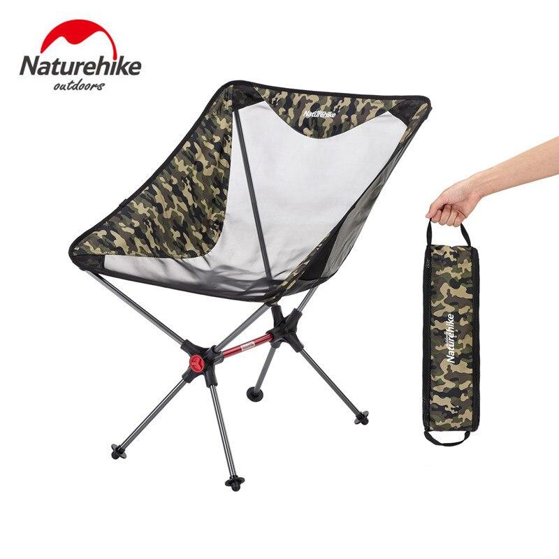 Naturehike-كرسي تخييم خفيف الوزن ، محمول ، مضغوط ، قابل للطي ، شبكة ألومنيوم ، نزهة الشاطئ ، صيد الأسماك ، NH19JJ005