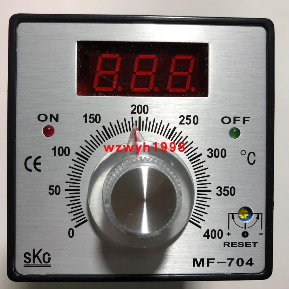 Taiwán SKG perilla digital pantalla controlador de temperatura MF-704 suministro de punto SKG MF704 termostato MF-704 PT100 K