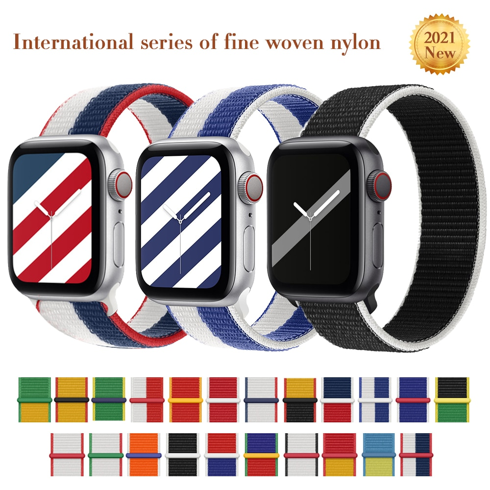 sport strap for apple watch band 44mm 40mm 42mm 38mm silicone bracelet smart wristband correa for iwatch series 6 5 4 3 2 1 se Nylon Solo Loop Strap For Apple Watch Band 38mm 40mm 44mm 42mm Correa Wristband Belt Sport Bracelet iWatch Series 3 4 5 SE 6 7
