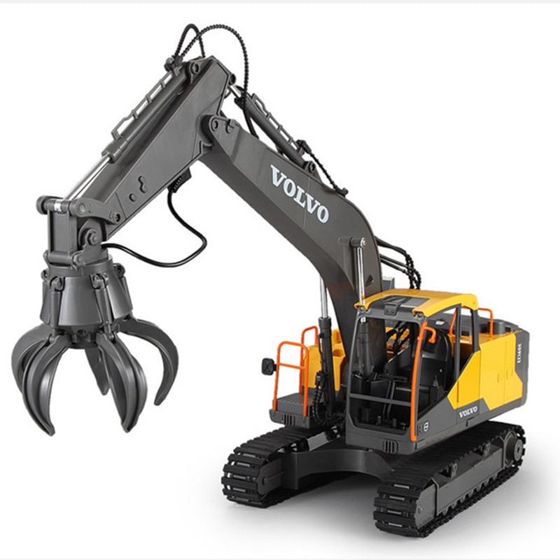 2.4G 3in1 Alloy RC Excavator  E568 1:16 Alloy 17ch Big RC Trucks Simulation Excavator Remote Control 3-Type Engineer Vehicle Toy enlarge