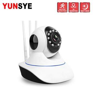 YUNSYE 720P 1080P Wireless WIFI PTZ HD IP Camera Home Camera Baby Monitor PTZ p2p Two Audio Night Vision Motion Detection 360Eye