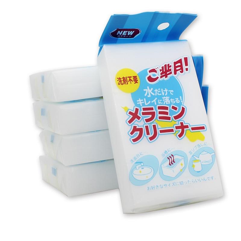100Pcs100 * 60 * 20mm White Melamine Sponge Magic Sponge Eraser For Kitchen Office Bathroom Clean Accessory / Dish Cleaning