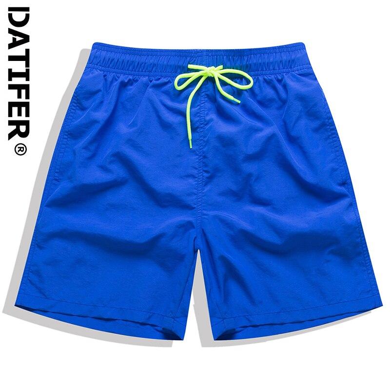 DATIFER Classics Quick Dry Summer Mens Board Shorts Solid Color Swim Shorts Beach Wear Briefs For Men Beachshorts 4XL ES5B