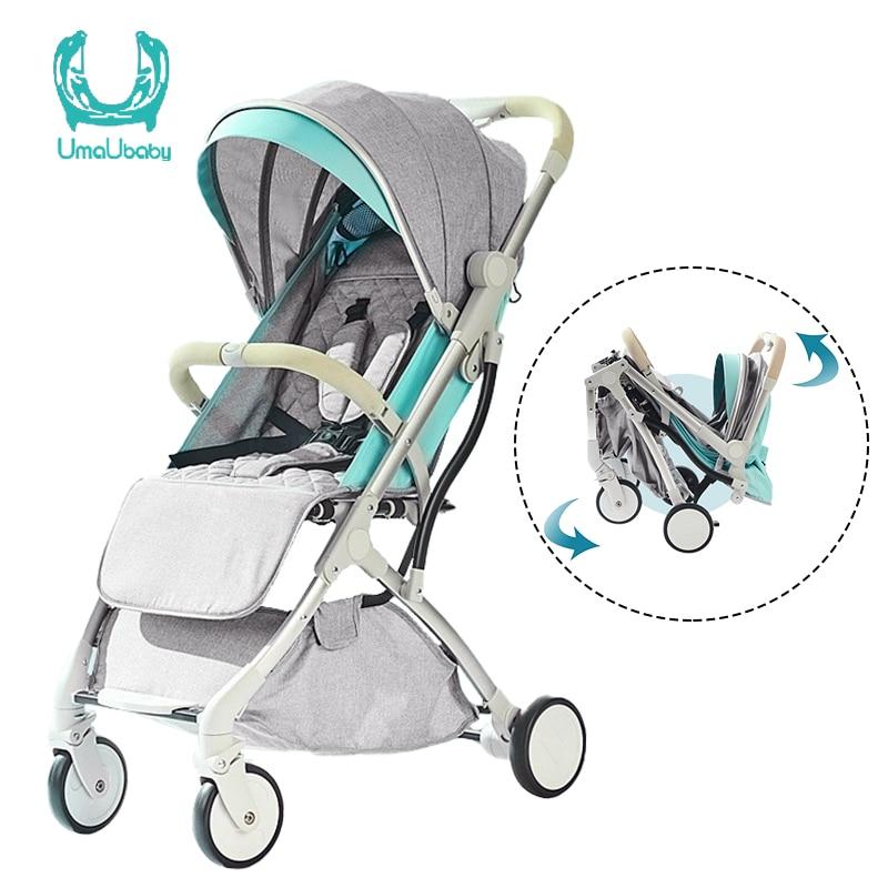 Cochecito de bebé Umaubaby Tianrui, ultraligero, asiento, sillón, paraguas de bebé, amortiguador plegable, tienda de fábrica de cochecito de bebé