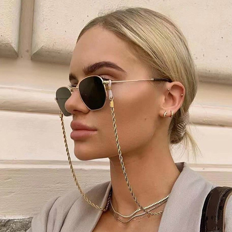 Fashion Reading Glasses Chain for Women Metal Sunglasses Cords Eyeglass Lanyard Hold Straps Eyewear