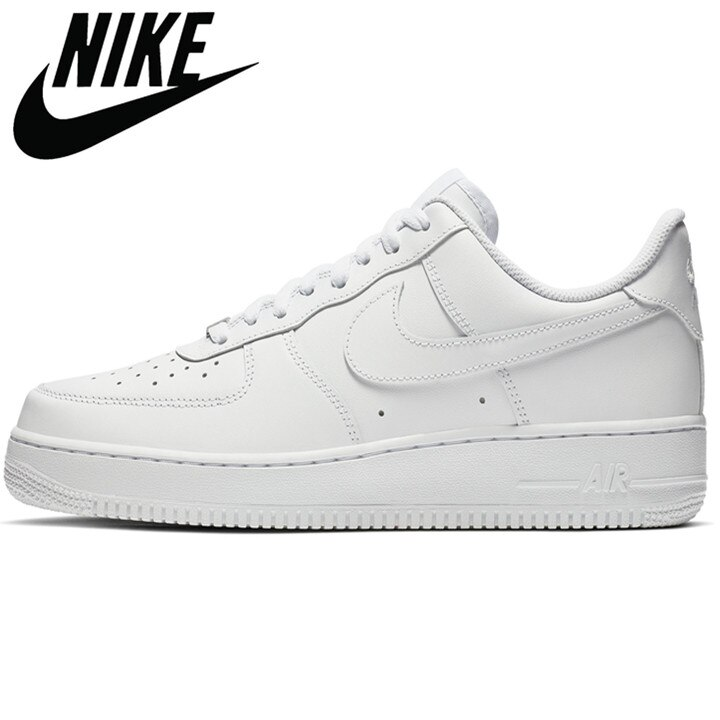 Original SCHNIKE- Air Force 1 AF1 Official Low High Black White Breathable Men Women Sports Sneakers