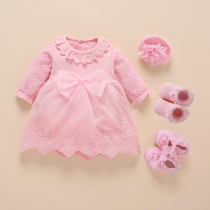Neue Geboren Baby Mädchen Kleidung 2019 Vestidos Taufe Kleid Für Baby Mädchen Baumwolle Prinzessin Baby Weiß Taufe Kleider 3 6 9 monate