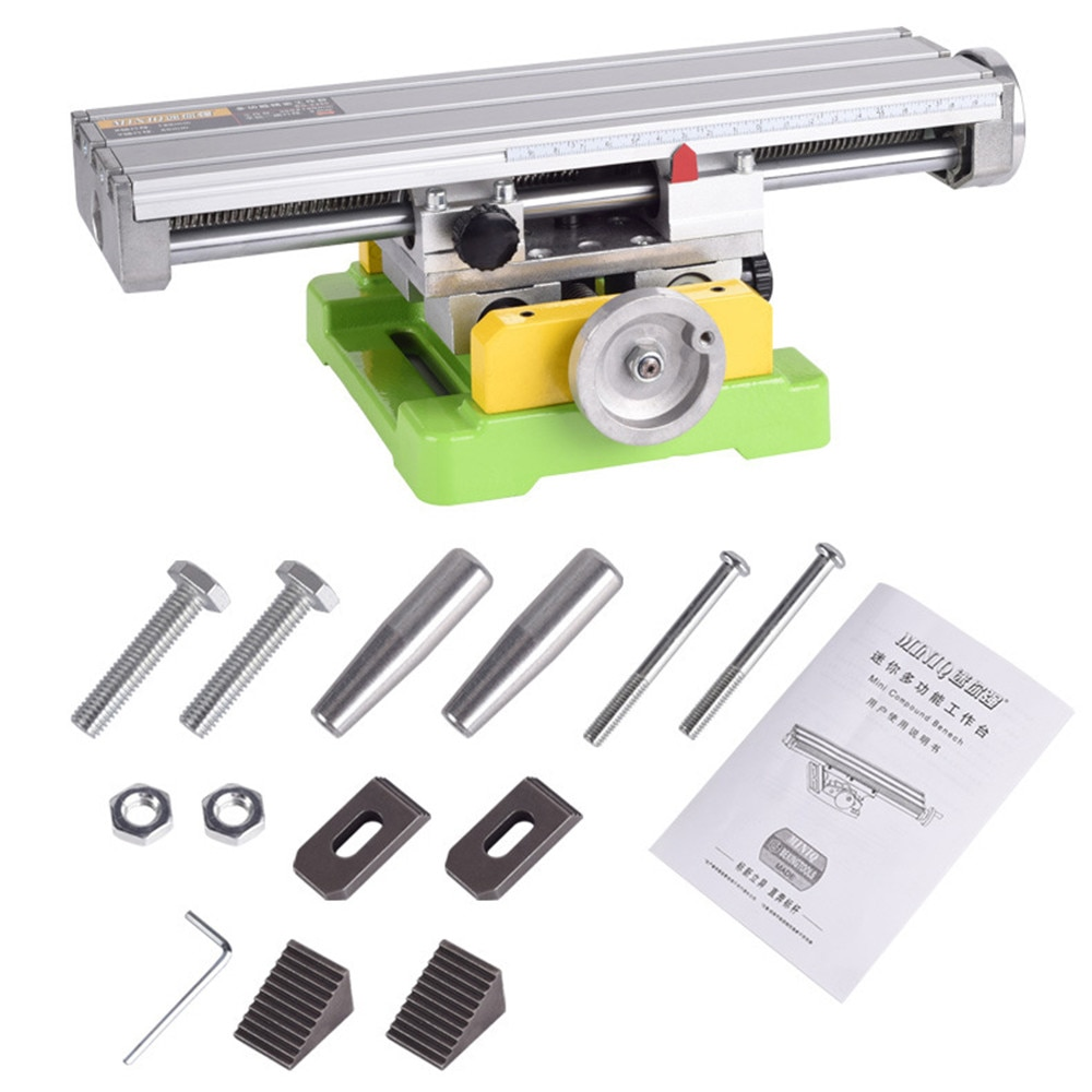 Mini Multifunctional Milling Machine Bench Drill Mounting Bracket Cross Table Precision Electric Drill Bracket Cross Slide Table enlarge