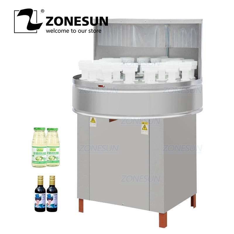 Zonesun ZS-WB32 leite rotativo vinho plástico pequeno smei automático pet reciclar garrafa de vidro máquina de lavar roupa máquina de embalagem