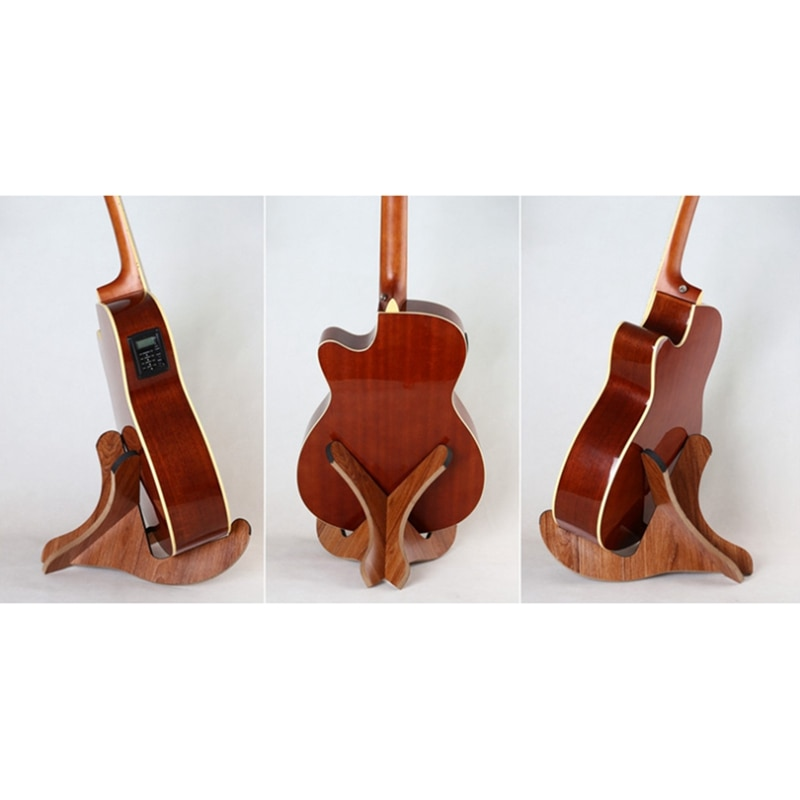 Guitar Stand Foldable Portable Guitar Holder Anti-Slip Musical Instrument Stand for Acoustic Guitar Bass enlarge