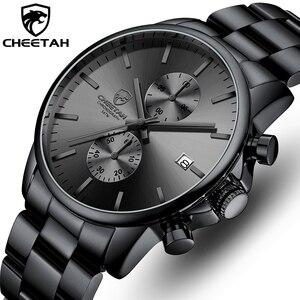Часы наручные CHEETAH Мужские кварцевые, роскошные деловые водонепроницаемые, с браслетом из нержавеющей стали