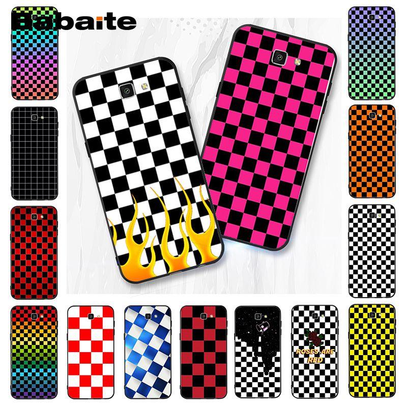 Babaite Checkerboard Checkered   Phone Case Cover For Samsung Galaxy J7 J6 J8 J4 J4Plus J7 DUO J7NEO J2 J7 Prime