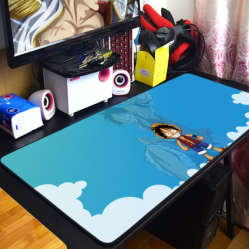 NEW One Piece Monkey D. Luffy waterproof Compute Mouse Pad Gaming Mousepad Anti-slip Natural Rubber with Locking Edge Mouse Mat