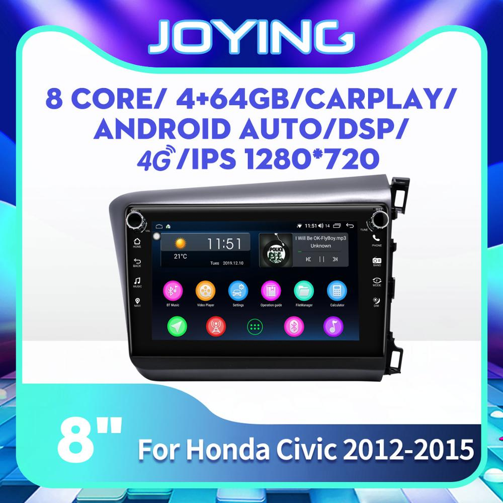 "8 ""Android coche Multimedia reproductor de Radio para Honda Civic derecho Drive 2012, 2013, 2014, 2015 GPS Carplay SIM 4G DSP SPDIF Subwoofer"