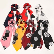 Rayé Dot queue de cheval écharpe bandes de cheveux tête cordes cheveux cravates pour filles dames noeuds grand intestin cheveux accessoires rubans bandes