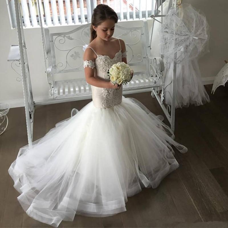платье bezko bezko mp002xw18tnc Платье для девочки с цветочным принтом русалки, красивое Тюлевое платье на бретельках, кружевное детское платье, нарядное платье, платье пр...