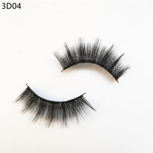 100% handmade natural thick Eye lashes wispy makeup extention tools 3D Faux mink hair volume soft fa