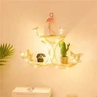 1pc iron wall mounted storage shelves wall decorations desktop ornaments for home living room bedroom candlesticks for candles