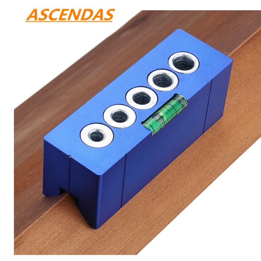 Carpintería de aleación de aluminio taladro de 90 grados guía de ángulo recto con burbuja horizontal 6/7/8/9/10mm Jig guía de perforación en V