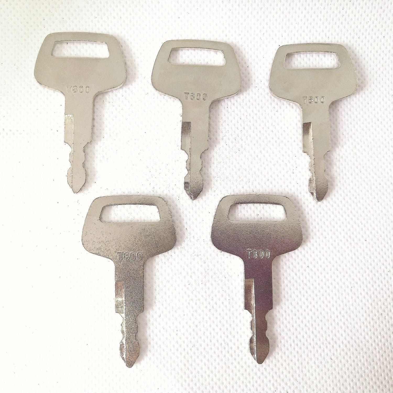 5 llaves de ignición de maquinaria pesada 26322-42311 T800 aptas para cargadores de ruedas TCM envío gratis