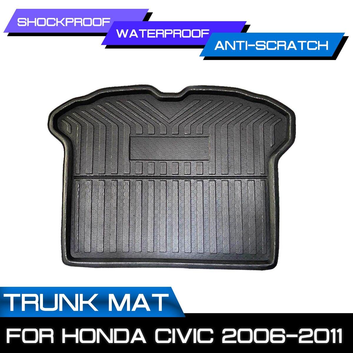 سيارة السجاد الخلفي الجذع مكافحة الطين غطاء الكلمة حصيرة لهوندا سيفيك 2006 2007 2008 2009 2010 2011