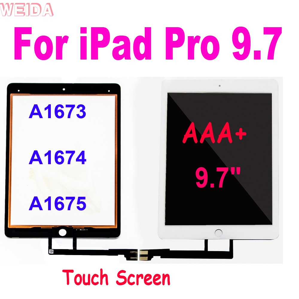 touch panel screen for pro face 2980070 04 gp2301 lg41 24v 9.7 Digtizer For iPad Pro 9.7 Touch Screen Panel A1673 A1674 A1675 For iPad Pro 9.7 Touch Screen Glass Panel Senor Replacement