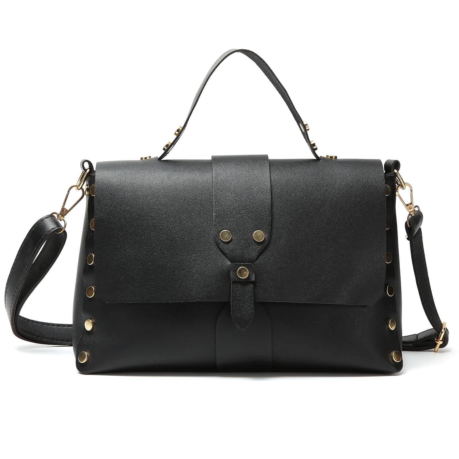 Soft casual tote shoulder messenger bag women's handbags female lady hand bags