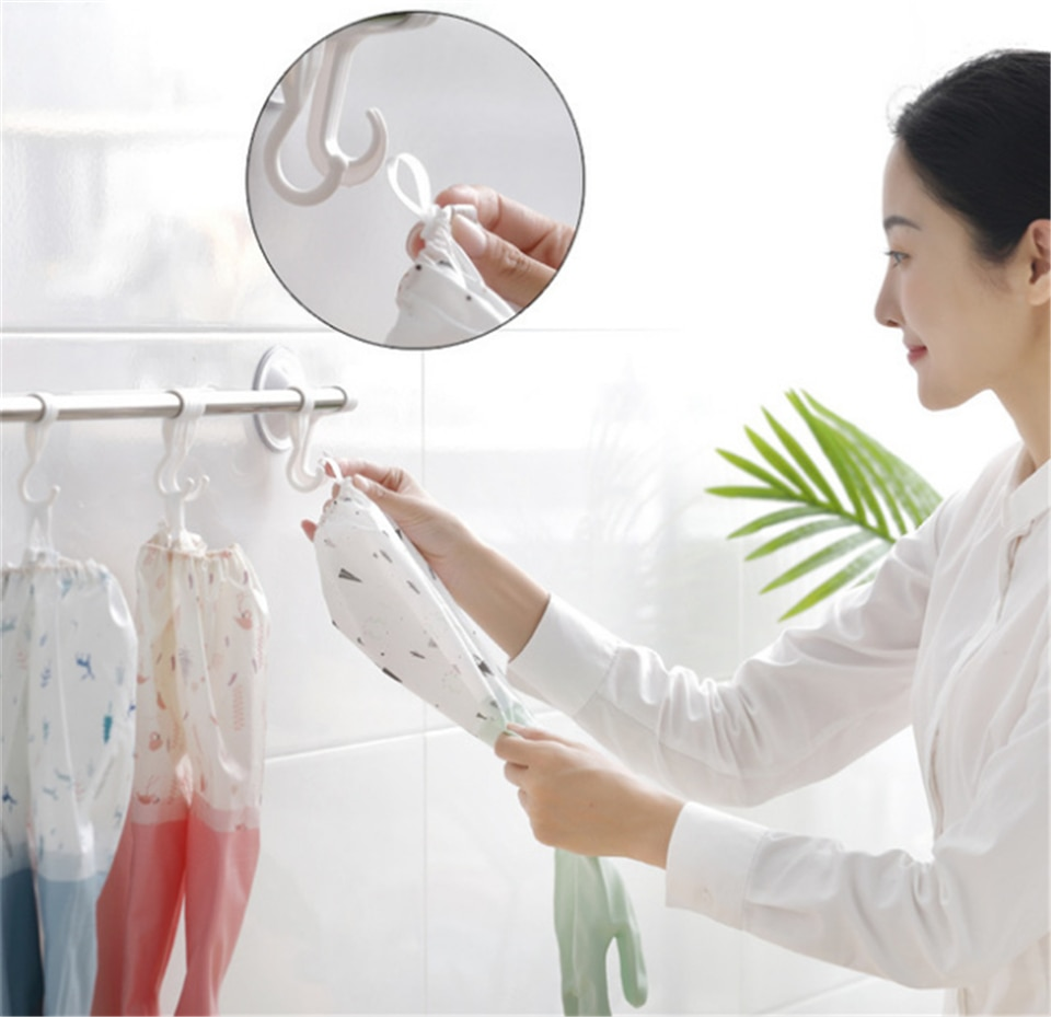 Thickened Long Sleeves Gloves Kitchen Wear-Resistant PVC Waterproof Washing Dishes Household Durable Gloves Kitchen Supplies enlarge