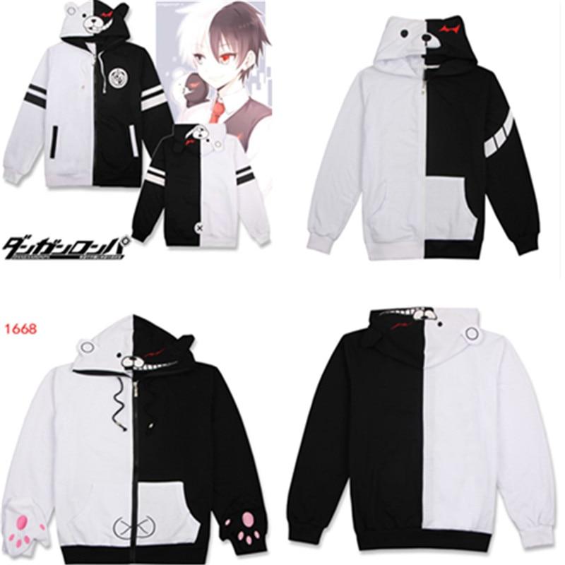 Danganronpa: gatillo-Disfraz del Anime estragos prenda con capucha Danganronpa... Monokuma de chaqueta...
