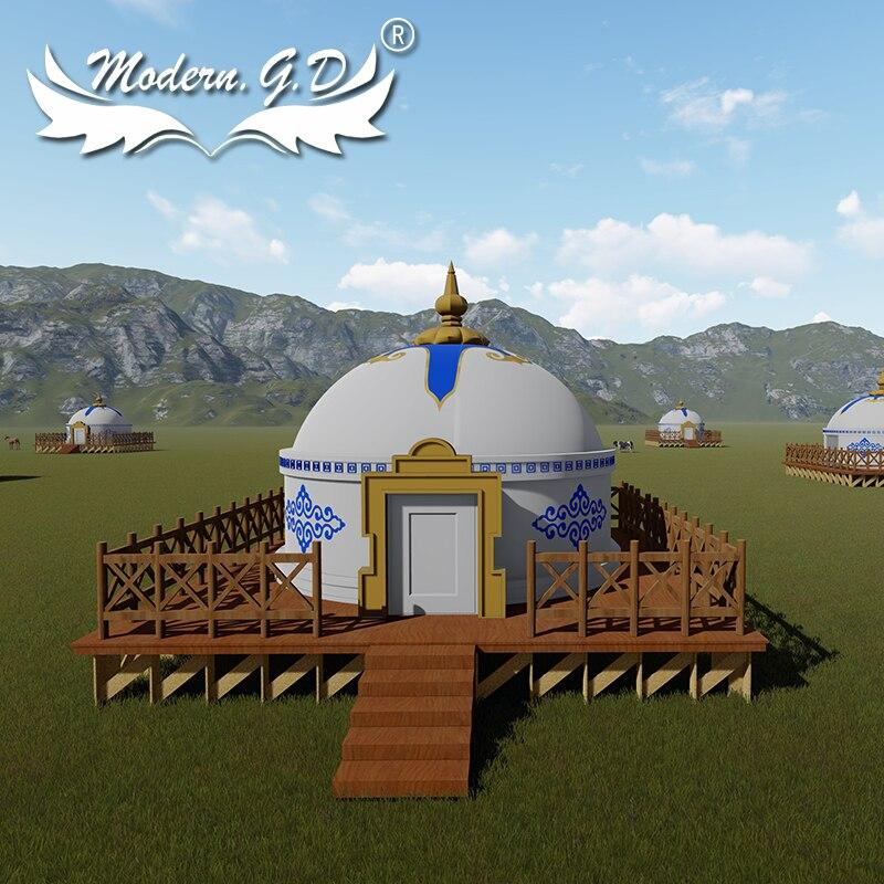 خيمة تخييم منغولية عالية الجودة من علامة تجارية
