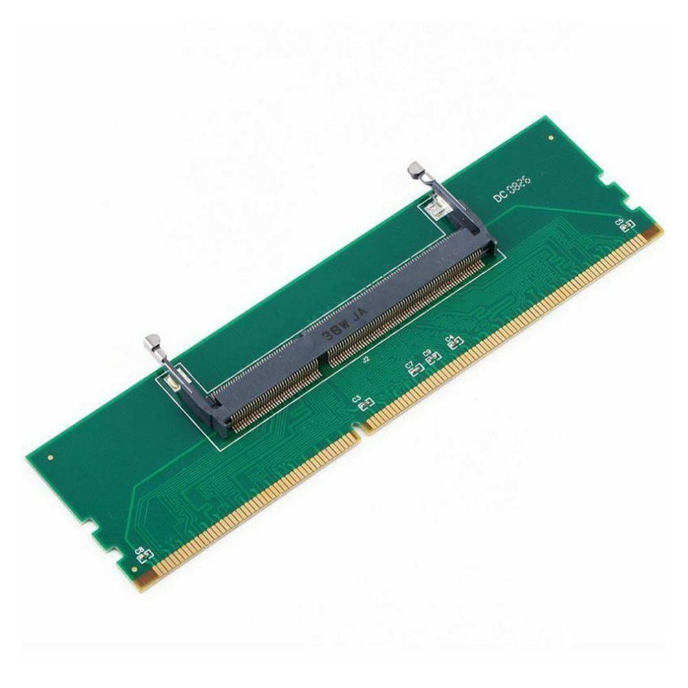 adaptador de conector de memoria ram so dimm adaptador para laptop e desktop