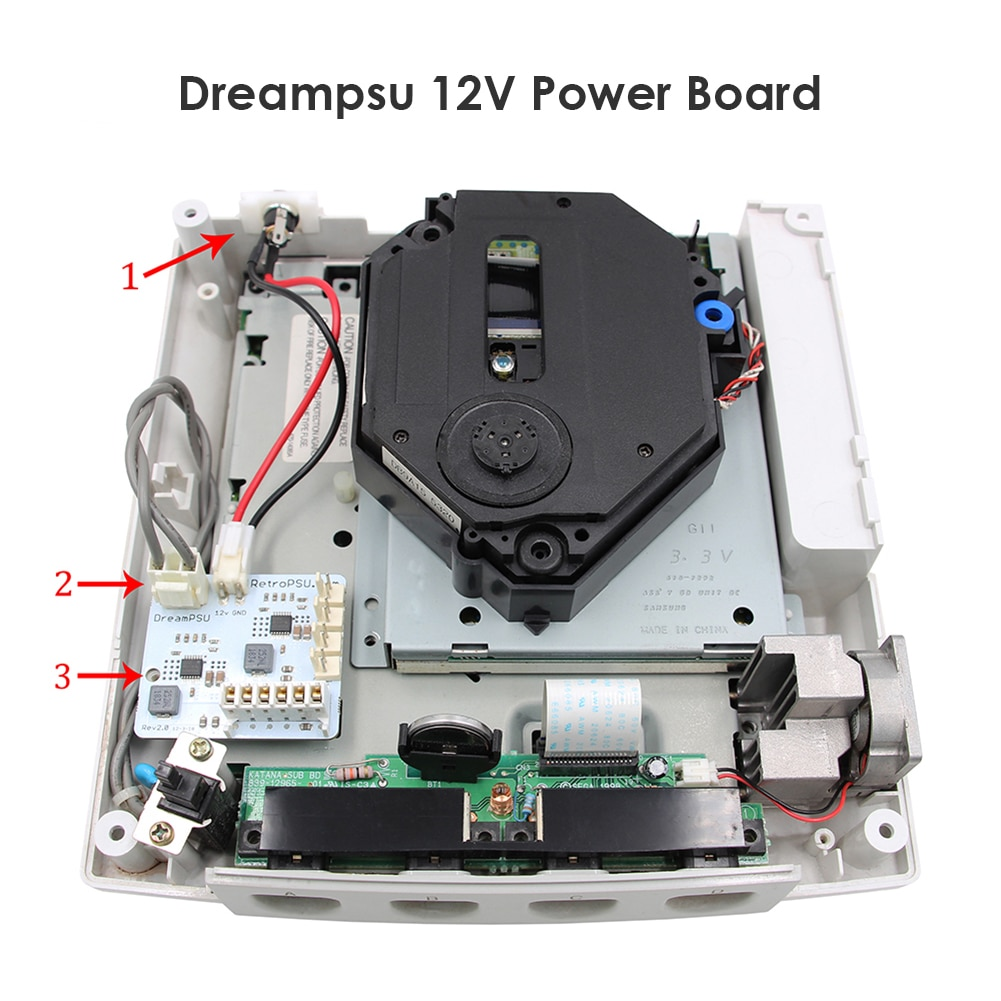 DreamPSU-مزود طاقة بديل Rev2.0 ، 12 فولت ، لوحدة تحكم SEGA DreamCast ، ملحقات الآلة الإلكترونية