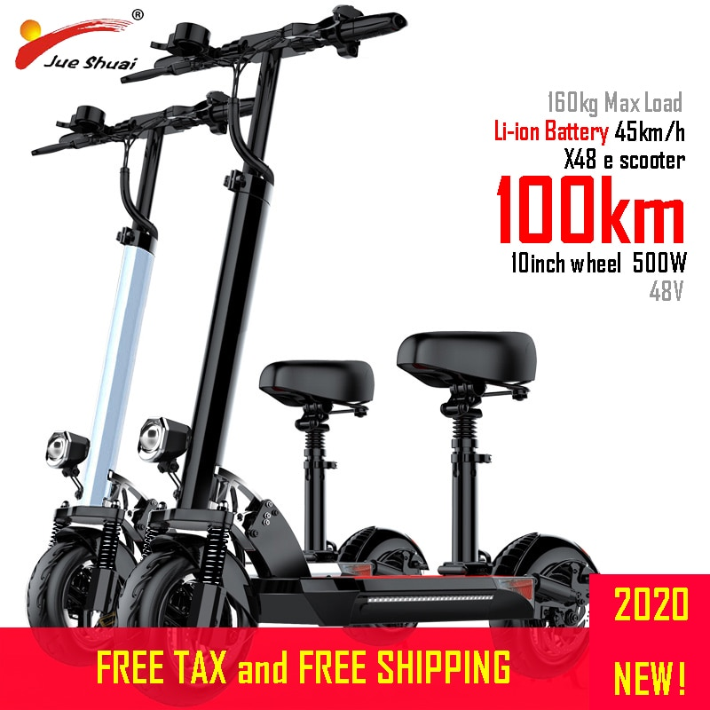 Scooter Eléctrico de 100km de larga distancia de 10 pulgadas 48V500W rueda de Motor adulto kick plegable patinete e scooter electrico Li batería M365