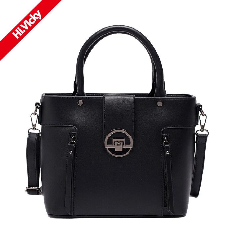 European Luxury New Female Handbag Famous Designer Brand Lady Shoulder Bag Black High Quality Business Classic Messenger Bag