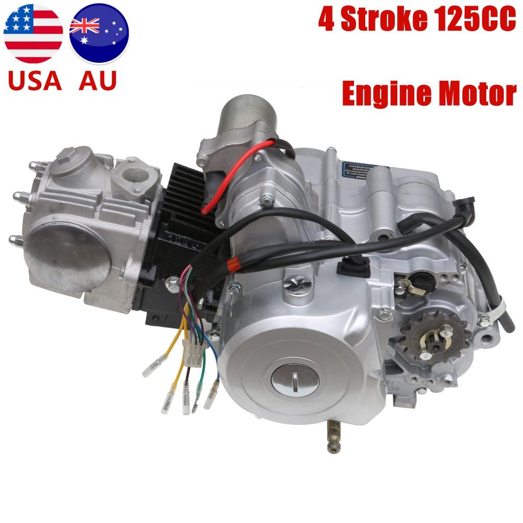 أجزاء محرك ATV احترافية ، محرك شبه أوتوماتيكي 125cc لـ ATV QUAD Go Kart Pitbike 110cc 125cc 3 إلى الأمام 1 عكس