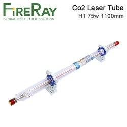 Fiteray yongli h série h1 75-90w co2 comprimento do tubo do laser 1100 dia.60mm embalagem da caixa de madeira para a máquina de gravura do laser do co2